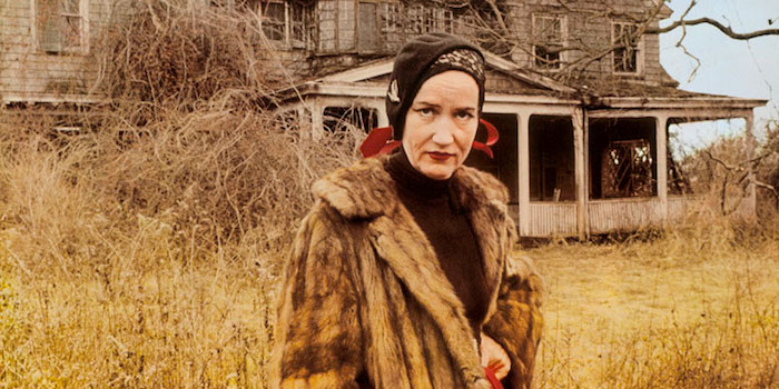 """But you see in dealing with me, the relatives didn't know that they were dealing with a staunch character and I tell you if there's anything worse than dealing with a staunch woman..."" Little Edie makes a stand. Grey Gardens Mayflies, Hovde, Meyer 1976"
