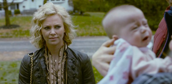 Ewww. A baby. Charlize Theron YOUNG ADULT Jason Reitman, 2011 Cinematography | Eric Steelberg