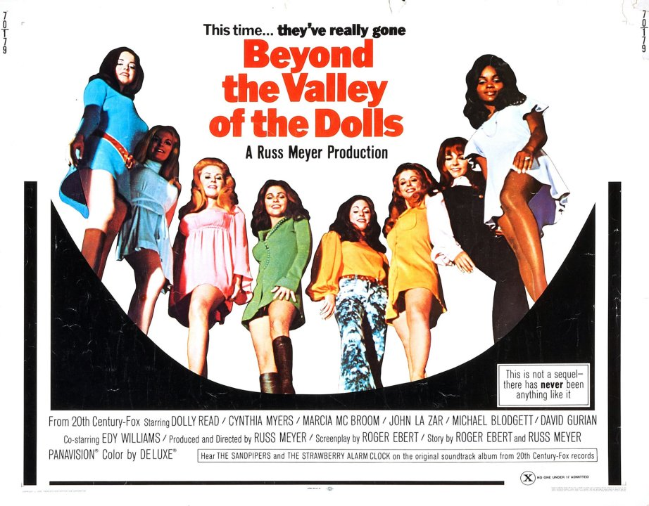 """This is my happening and it freaks me out!"" Long maligned but deeply loved by a whole lot more -- Russ Meyer and Roger Eberts' 1970 X-Rated film has also joined the ranks of The Criterion Collection. Beyond the Valley of the Dolls Russ Meyer, 1970"