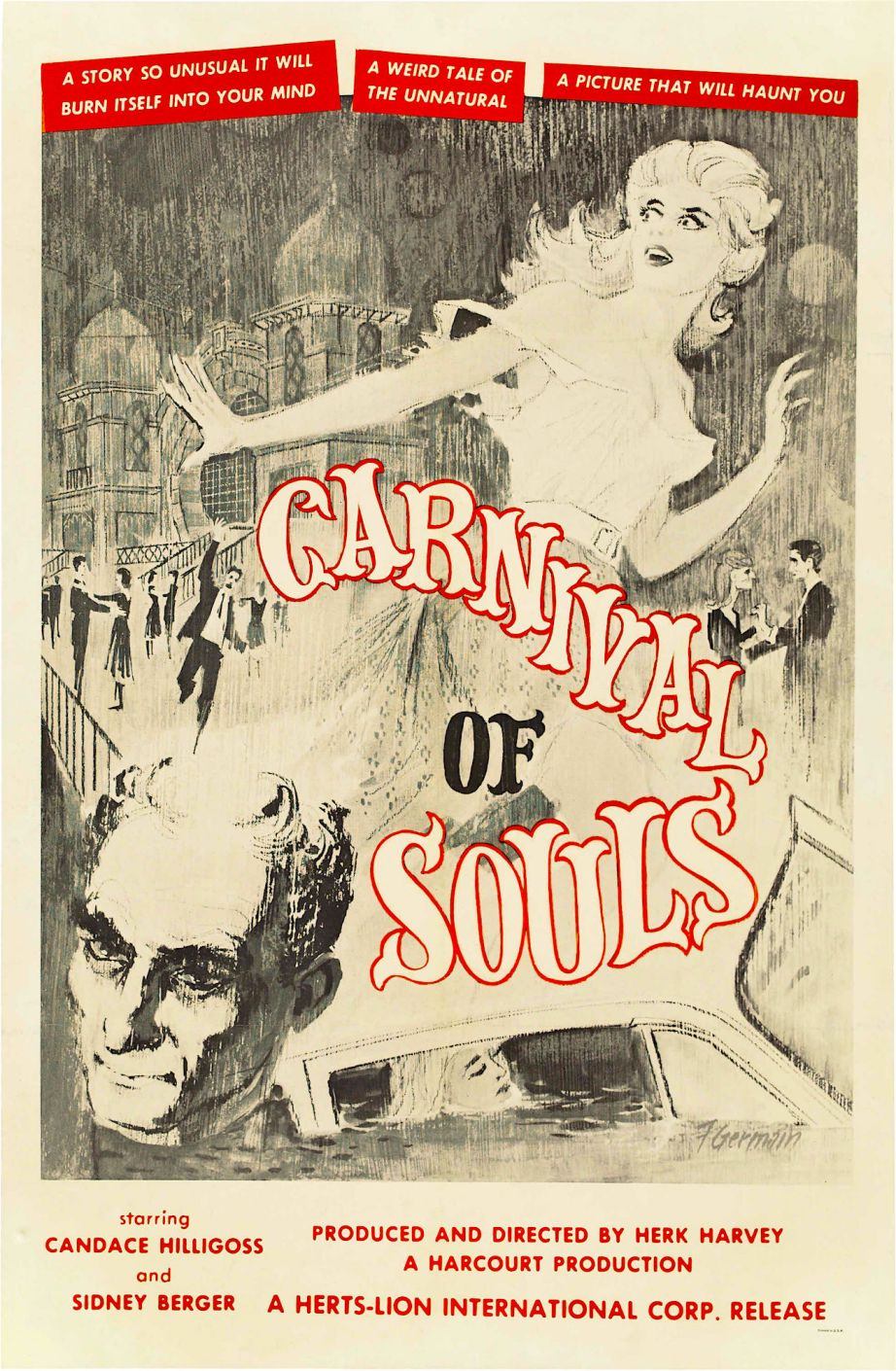 Filmed on a shoe string and with a desire to haunt vs. scare -- This strange B Movie is now a treasured member of The Criterion Collection. Carnival of Souls Herk Harvey, 1962
