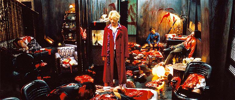 Surveying the carnage Tadanobu Asano Ichi The Killer Takashi Miike, 2001 Cinematography | Hideo Yamamoto