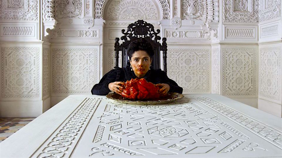 """Could you just read the part where they kiss?"" Salma Hayek Tale of Tales Matteo Garrone, 2016 Cinematography 