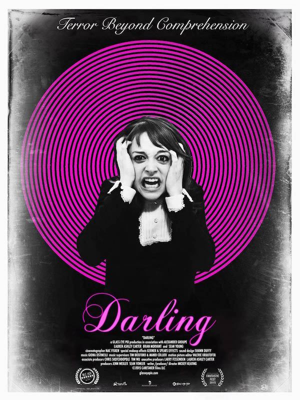 """A lonely girl's violent descent into madness..."" Darling Mickey Keating, 2015"