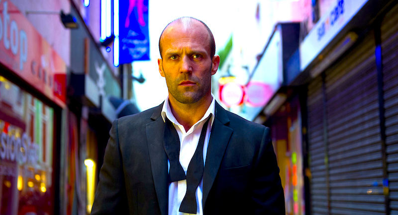 """Now I go back to the street and disappear."" This spaces of this Neon World threaten with lighted colors. Jason Statham Steven Knight, 2013 Cinematography 