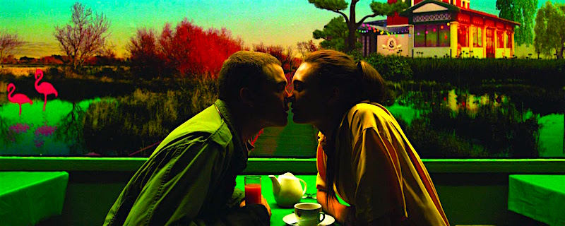 The Neon replaces the passion and thrills of romance and sexual release... Karl Glusman and Aomi Muyock Love Gaspar Noe, 2015 Cinematography | Benoit Debie