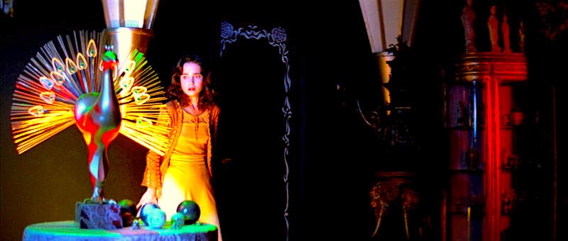 Gallo horror has never been more beautiful or surreal. This is the perfect example of a great cinematographer. Jessica Harper suspects witchery. Suspiria Dario Argento, 1977 Cinematography | Luciano Tovoli