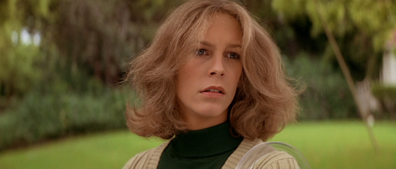 """It was the boogeyman..."" Laurie is almost certain she is being followed. Jaime Lee Curtis Halloween John Carpenter, 1978 Cinematography 