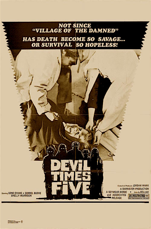 """What Wendy just saw them do will make you sick to your stomach if it doesn't make you faint first!"" Devil Times Five Sean MacGregor, 1974"