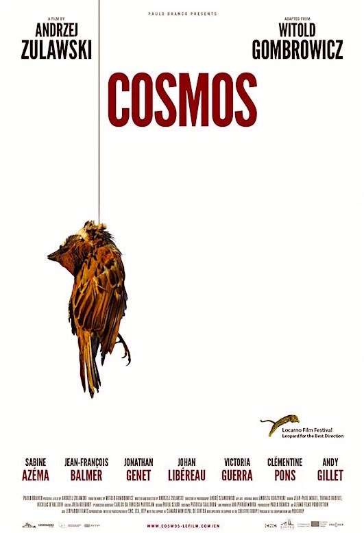 Surreal, absurd, bizarre and without end. Welcome to Andrzej Zulawski's Universe... Cosmos Andrzej Zulawski, 2015 Cinematography | Andre Szankowski