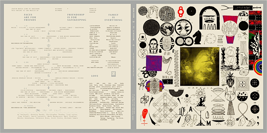 Bon Iver 22, A Million Art Design | Eric Timothy Carlson