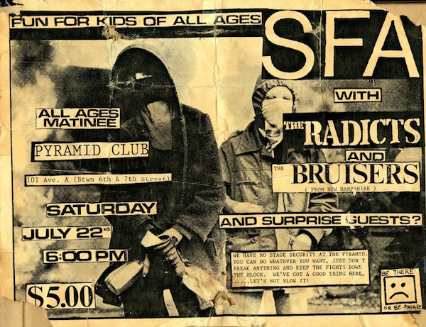 By 2006 Pyramid Club presents PUNK by way of nostalgia... No wave here. The Radicts and The Bruisers Pyramid Club advert, 2006