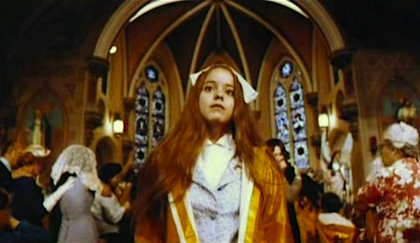 "A strange little girl. Before she slammed with her rhythm box she was ""Alice."" ...And she was scarier than the mask. Paula E. Sheppard Alice Sweet Alice Alfred Sole, 1978 Cinematography 