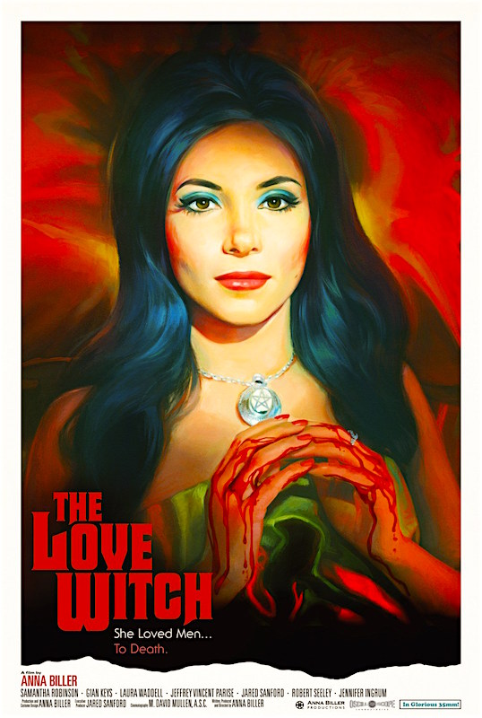 A great ode to movies long gone plus a fascinating study of female fantasies and the cost of extreme narcissism. The Love Witch Anna Biller, 2016
